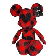 Disney Mickey Mouse X Ae American Eagle Special Edition Plush Doll Red Dust Bag