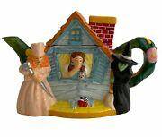 Teapot Vintage Wizard Of Oz Dorothy Toto House Glinda Wicked Witch1999