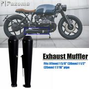 Dual Motorcycle Shorty Megaphone Exhaust Muffler For 1 7/16 1 1/2 1 5/8 Pipes