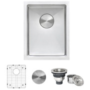 Undermount Bar Sink 14 In. Single-bowl Sound Dampening Insulated Stainless Steel