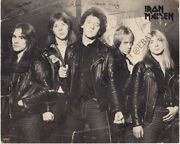 Iron Maiden 8x10 Photo Fully Signed Clive Burr Paul Dianno Dave Murray Autograph