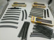 37 Pieces Of Bachmann Ho Gauge Ez Track Straight And Curved And Boxes