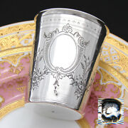 Superb Antique French Sterling Silver Wine Or Mint Julep Cup, Tumbler Or Timbale