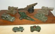 Vd56lot8 Toy Soldier Cannonstankmilitary Itemstootsetoybarclay/manoil Etc.