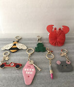 Kate Spade Deco Inn Lipstick Car Frog Bee Mouse/cat Crab Keychain Fob Charm Lot