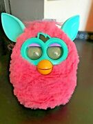 Hasbro Pink And Blue Green Furby Toy 2012 Tested Work Missing Battery Cover