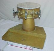Vintage Beer Tower Six Spigot Tap Brass Bar Fountain Marble Top