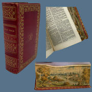1823 Duodecimo Complete King James Bible Fore-edge Painting Of An English Town