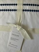 Pottery Barn Twilight Pearl Embroidered Organic King/cal King Duvet Cover Nwt