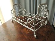 Antique Doll Bed Solid Brass 23 X 12