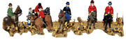 Hunt Horses Riders Hounds F34 Unpainted Oo Scale Langley Models Kit Figures