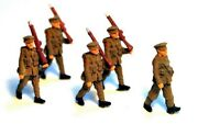 4 Soldiers 1 Officer F49p+f49ap Painted Oo Scale Langley Models People Figures