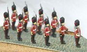 10 Guards Marching F12p Painted Oo Scale Langley Models People Figures 1/76