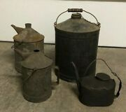 Vintage Chicago And Northwestern Railway Railroad Oil Cans