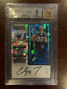2017 Contenders Cracked Ice 24/25 Christian Mccaffrey Bgs 9 Pop 7, 0 Above