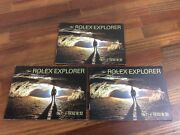 Rolex Explorer Booklet In Chinese Hong Kong Set Of 3 2006 + Free Shipping