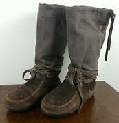 Steger Mukluks Womens Sz 6 Usa Genuine Moosehide Winter Moccisan Boots And Liners