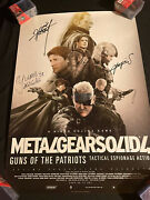 Metal Gear Solid 4 Guns Of The Patriots Poster Signed By Hideo Kojima