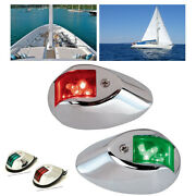 4pcs 12v Led Navigation Lamp Waterproof Marine Boat Yacht Stainless Red+green