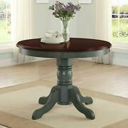 Dining Table Round Farmhouse French Kitchen Rustic Dinning Antique Sage Base