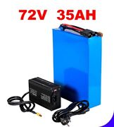 Lithium Ion Li-ion Battery 72v 35ah Rechargeable Electric E Bike Bicycle Scooter