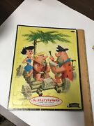 Vintage Whitman The Flinstones Frame-tray Puzzle 1960 Fred And Barney- Betty