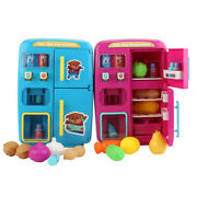 Pretend Play Red Fridge Food Vending Machine With Lighting Ringing Kitchen Toys