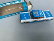 Vintage Tin Japan Twa Friction Powered Airport United Service Car Unused In Box