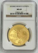 2010 Mo Gold Mexico 4000 Minted 1 Oz Onza Libertad Winged Victory Coin Ngc Ms 69