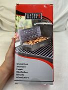 Weber 7576 Universal Stainless Steel Smoker Box Gas / Charcoal Grill New