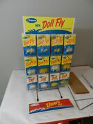 Vintage Fishing Lure Store Display- Thompson Fishing Tackle Co.-doll Fly- Elmer