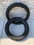 Heidenau K60 Scout Dual Sport Tires 140/80-18 Rear And 90/90-21 Front Used Pair
