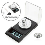Milligram Jewelry Scale With Lcd Backlit Portable For Gold Medicine Gem