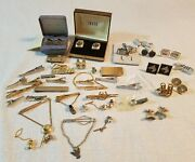 Mixed Cuff Links Tie Clasp Bar Tack Wrap Jewelry Anson Swank And Sterling Pieces