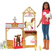 Barbie Sweet Orchard Farm Doll And Vet Playset, African American