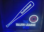 Chicago Cubs Baseball Bat And Ball Motion Animated Budweiser Beer Led Light Sign