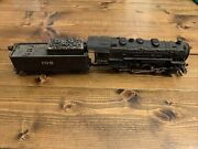 Vintage Rivarossi 0-8-0 Steam Locomotive A.t. And S.f. With 105 Tender Italian