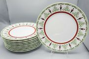 Bernardaud Limoges Grenadiers Happy Holiday Service Plate Charger 12 D – Set 10