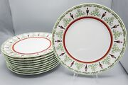 Bernardaud Limoges Grenadiers Happy Holiday Service Plate Charger 12 D Andndash Set 10