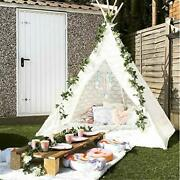 Huge Teepee, Avrsol 85 Inch Height Luxury Lace Teepee Tent For Adult Super Large