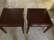 2 Kimball End Tables 20x20x20 Ex. Con. Office Style