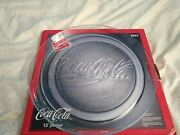 Vintage Collectible 1990 Coca Cola 13 Glass Platter Tray 3947 In Box Defect