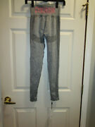 Gymshark High Waisted Flex Leggings In Charcoal Marl Gray/pink Size Small  New