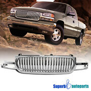 For 2000-2006 Gmc 00-06 Sierra Yukon 1500 2500 Vertical Front Hood Grill Grille