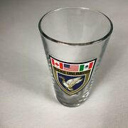 Ducks Unlimited Pint Beer Glass Canada Usa Mexico Flags Drink Outdoors Hunting