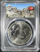 Special Labels 1991 America Rushmore President Trump Pcgs Silver Coin 1