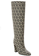 Salvatore Ferragamo Antea Tall Knee High Boots Womens Size Us 7.5 New Authentic