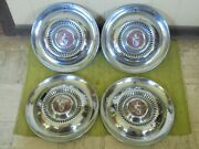 54 55 Lincoln Hub Caps 15 Set Of 4 Wheel Covers Hubcaps 1954 1955