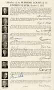 Tom C. Clark - Biography Signed 10/14/1963 With Co-signers
