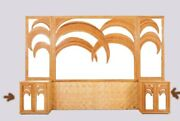 1970and039s Vivai Del Sud Tropical Bamboo Palm Tree And Mirror Pair Of Cabinets